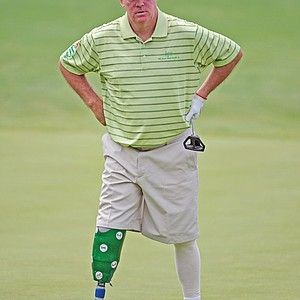 Ken Green, who lost his right leg in a 2009 car accident, made his Champions Tour return in 2010.