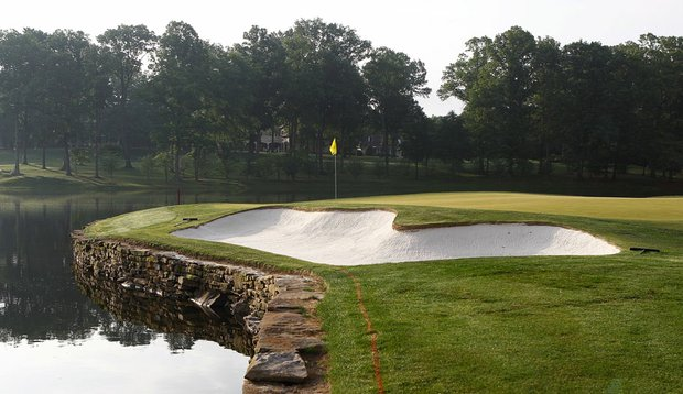 The 17th green at Quail Hollow Club