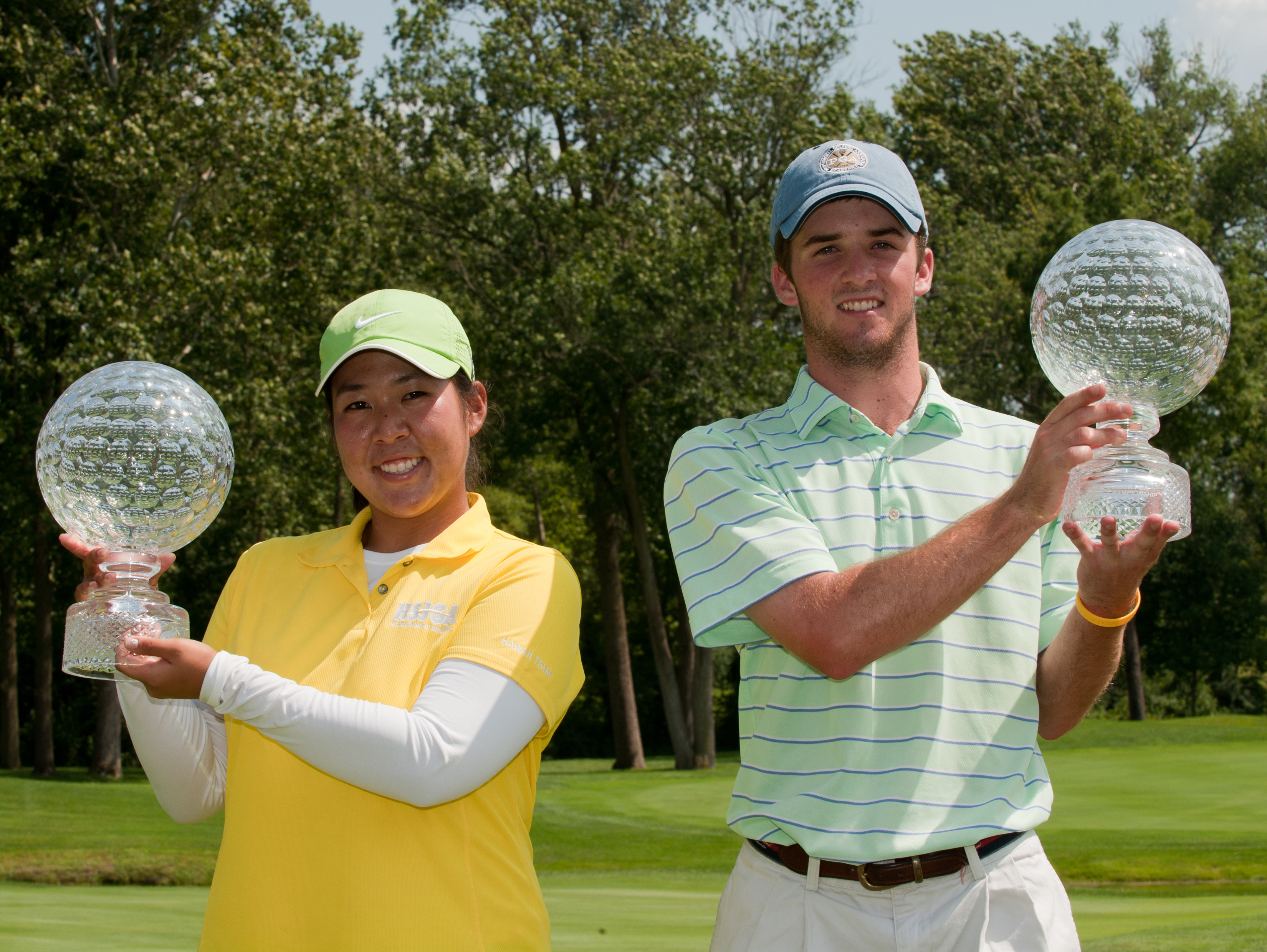 Cassy Isagawa and Denny McCarthy won the Junior PGA Championship on Aug. 5.