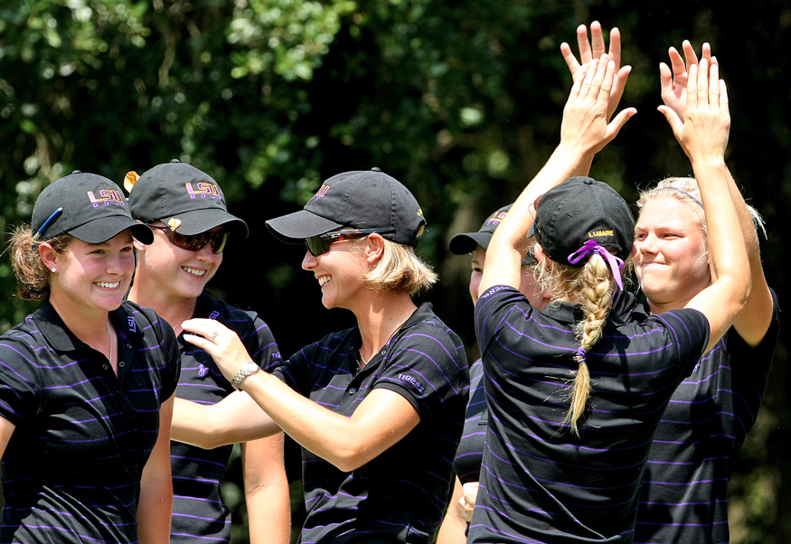 LSU after winning last year's Hooters Match Play Championship.
