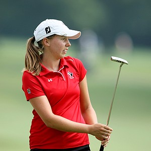 Stephanie Sherlock at No. 9 during Monday stroke play. Sherlock posted a 70.