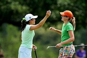 Cydney Clanton defeated Tiffany Lua, 1 up in 18 holes during Wednesday's Round of 64.