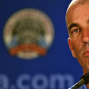 U.S. Ryder Cup captain Corey Pavin addresses the media Aug. 11 at the PGA Championship.
