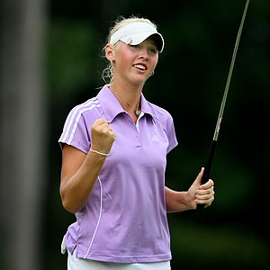 Jessica Korda beat Lisa McClosky in 20 holes during Thursday's  Round of 16.