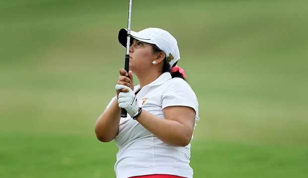 Lizette Salas during her Round of 32 match at the U.S. Women's Amateur.