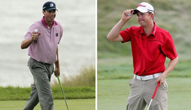 Matt Kuchar, left, and Bryce Molder are fighting for their first major championships at Whistling Straits.