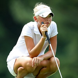 Jessica Korda at No. 13 during Saturday's semifinals. Korda defeated Stephanie Sherlock 4 & 3.