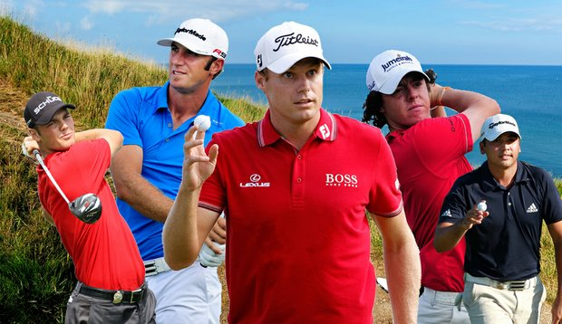 (From left) Martin Kaymer, Dustin Johnson, Nick Watney, Rory McIlroy and Jason Day are all within striking distance of their first major championship at Whistling Straits.
