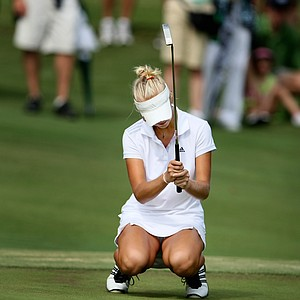 Jessica Korda failed to make par at No. 15 her 33rd hole during Sunday's finals.