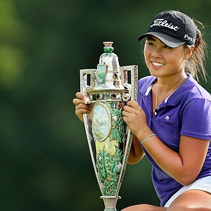 Danielle Kang posing with the Robert Cox Trophy is the 2010 Women's Amateur Champion at Charlotte Country Club, August 15, 2010. Kang defeated Jessica Korda, 2 & 1.