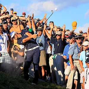 """Walking up and seeing the shot, never once did it cross my mind it was in a sand trap,"" Johnson said. ""I just thought it was on a piece of dirt the crowd had trampled down. Never thought it was a sand trap. I looked at it a lot, never once thought it was a bunker.""