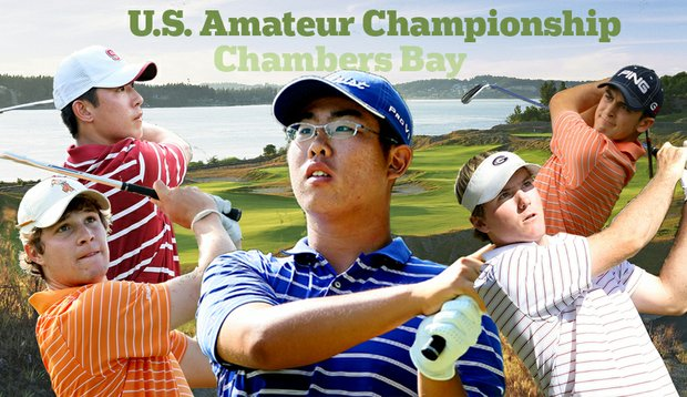 (Left to right) Peter Uihlein, David Chung, Byeong-Hun An, Russell Henley and Scott Langley