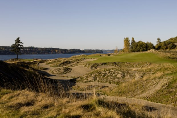 The third hole at Chambers Bay