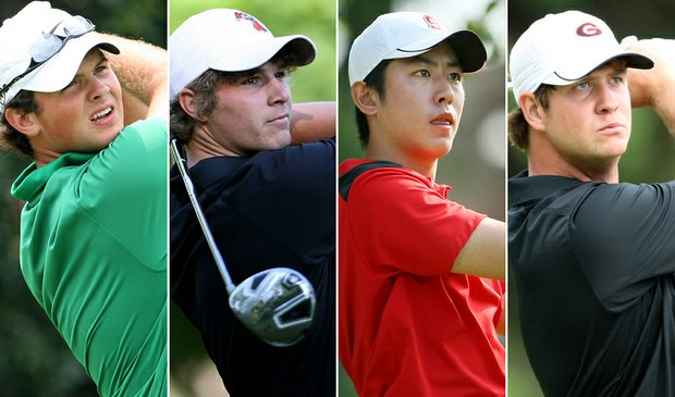 (left to right) Patrick Reed, Peter Uihlein, David Chung and Hudson Swafford
