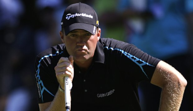 Peter Hanson concentrates during the final round of the Czech Open.
