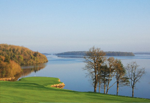 Lough Erne's fabulous 10th hole, also known as Emerald Isle.