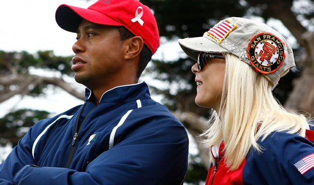 Tiger Woods and Elin Nordegren at the 2009 Presidents Cup.