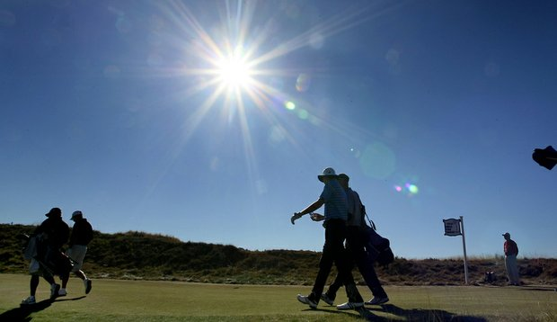The weather has been perfect for the U.S. Amateur at Chambers Bay.