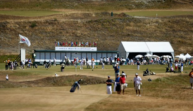 Chambers Bay during the 2010 U.S. Amateur Championship.