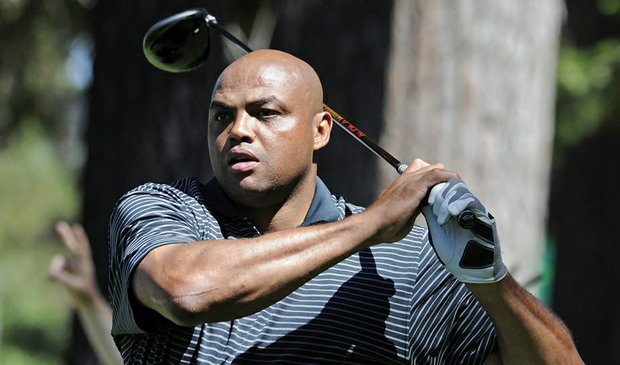 Charles Barkley during the 2009 Lake Tahoe Celebrity Golf Championship.