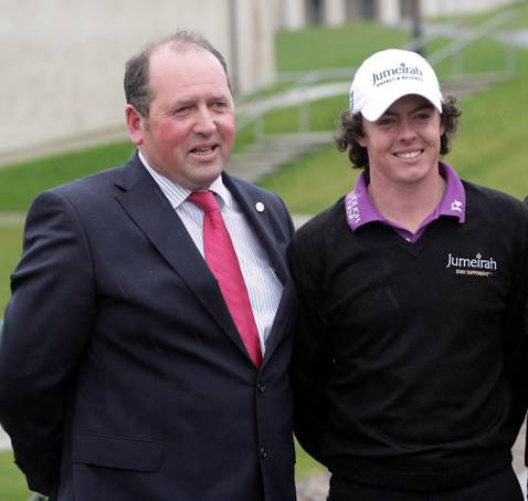 Lough Erne owner Jim Treacy (left) has enlisted Rory McIlroy to serve as an ambassador for the resort.