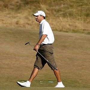 Jeff Wilson, the stroke play medalist, walks up No. 11 during the Round of 64. Wilson lost to Amory Davis.