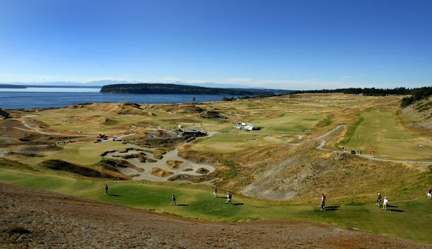 Chambers Bay during the 110th U.S. Amateur Championship in University Place, Wash.