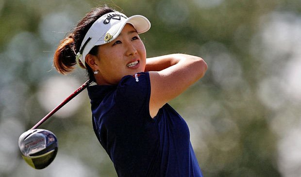 Jennifer Song during the third round of the 2010 U.S. Women's Open.
