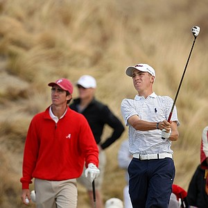 Justin Thomas, runner-up at the U.S. Junior Amateur, lost to Scott Strohmeyer in the Round of 32 after 19 holes.