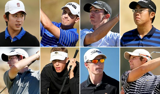 (clockwise from upper left) David Chung, Scott Langley, Max Homa, Byeong-Hun An, Peter Uihlein, Morgan Hoffmann, Jed Dirksen, Patrick Cantlay