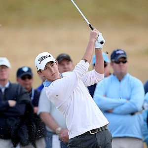 Patrick Cantlay hits a shot at No. 11. Cantlay lost Peter Uihlein in the semi finals.
