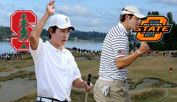 Stanford's David Chung and Oklahoma State's Peter Uihlein will meet in the finals of the U.S. Amateur Championship.