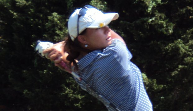 Minami Levonowich holds a share of the lead after the first round of the Golfweek Junior Series event at Wilbrook Plantation.