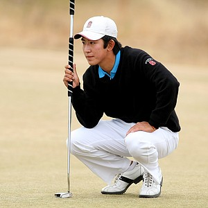 David Chung at No. 3 green during the first 18 of the finals.