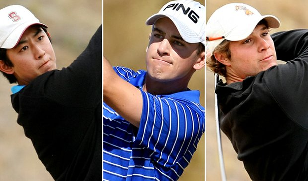 (left to right) David Chung, Scott Langley and Peter Uihlein