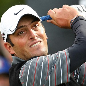 Francesco Molinari hits a shot during the final round of the Johnnie Walker Championship.