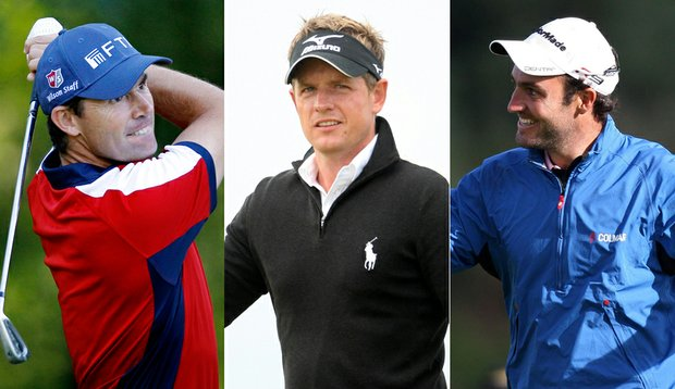 Padraig Harrington, Luke Donald, Edoardo Molinari