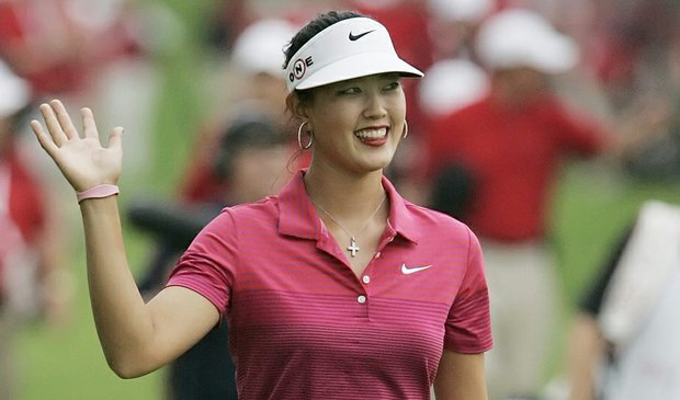 Michelle Wie walks down the 18th fairing en route to victory at the CN Canadian Women's Open.