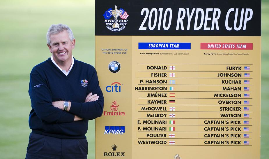 European Ryder Cup captain Colin Montgomerie