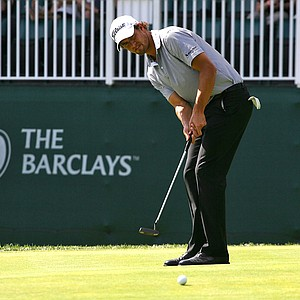 Adam Scott during Round 1 of The Barclays.