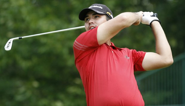 Jason Day during the first round of the Deutsche Bank Championship.