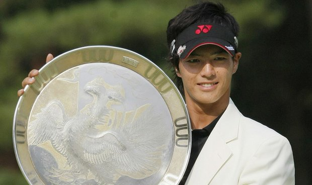 Japanese teen golf star Ryo Ishikawa successfully defended his title at the Fujisankei Classic on Sept. 5, 2010.