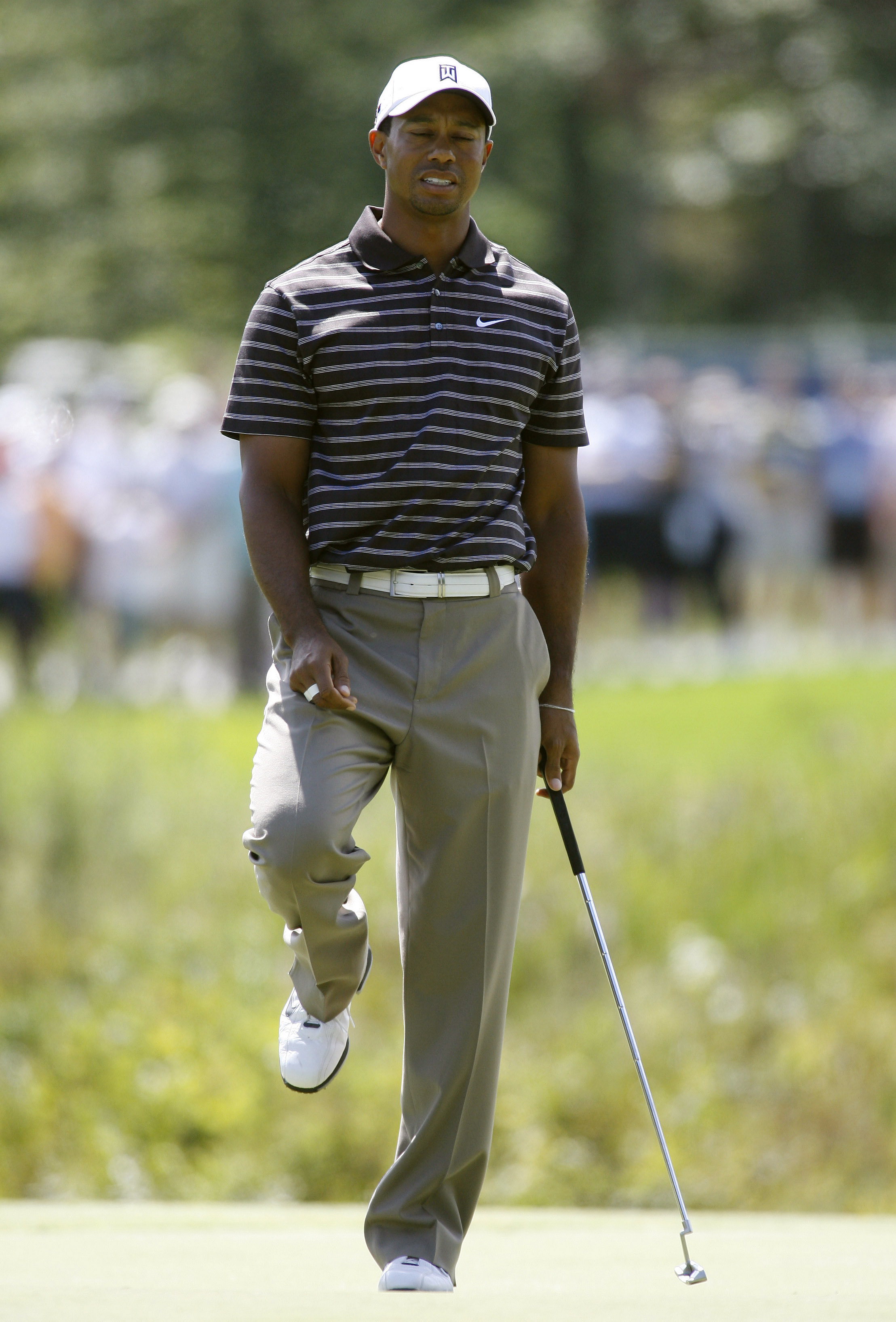 Tiger Woods during the third round of the Deutsche Bank Championship.