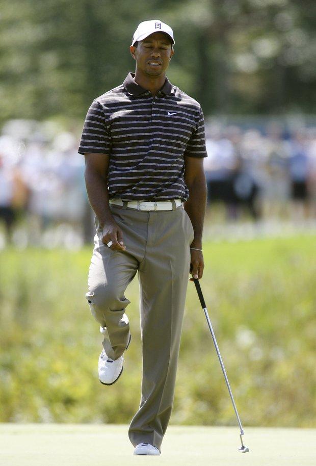 Tiger Woods during the third round of the Deutsche Bank Championship.