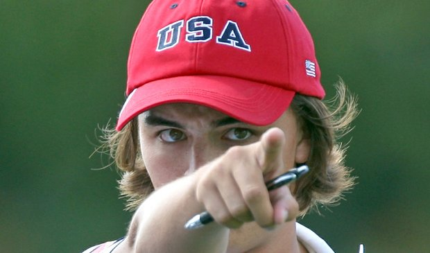 Rickie Fowler at the 2009 Walker Cup at Merion.