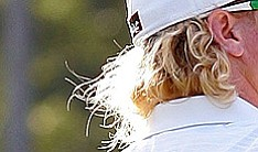 Charley Hoffman's flowing blond locks.