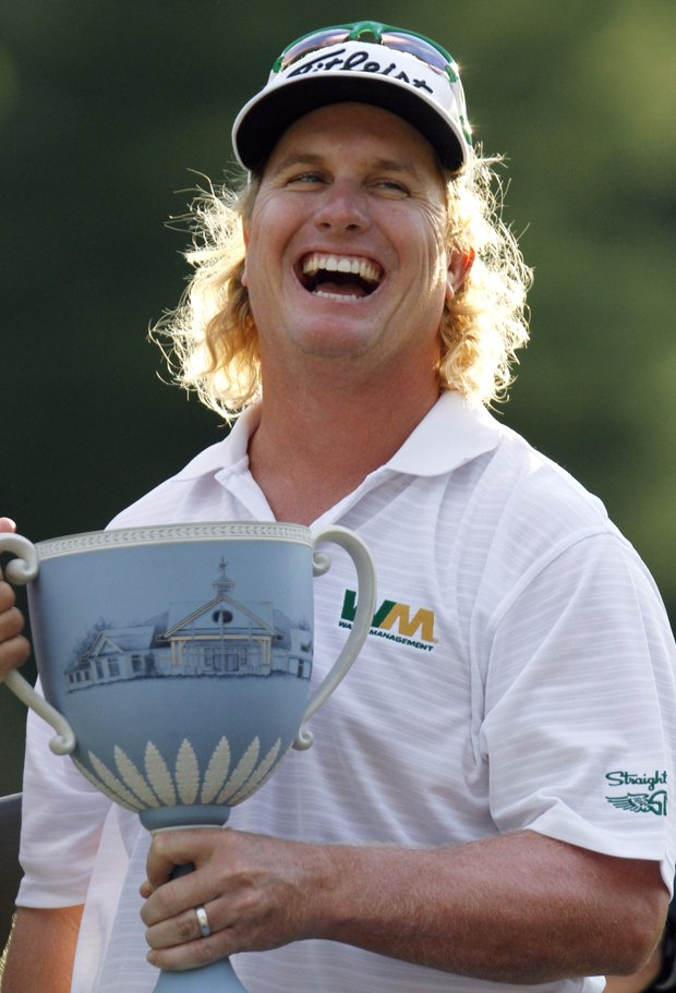 Charley Hoffman after winning the Deutsche Bank Championship.