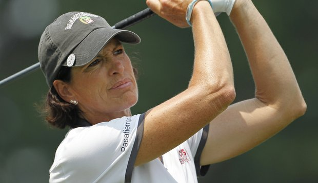 Juli Inkster is attempting to move past her DQ at the Safeway Classic.