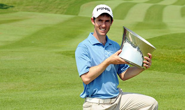 Peter Karmis of South Africa claimed victory at Handa Singapore Classic on Sept. 12, 2010.