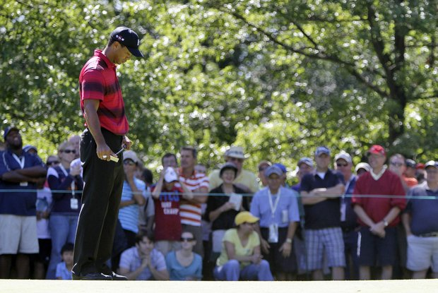 Tiger Woods during the final round of the BMW Championship.